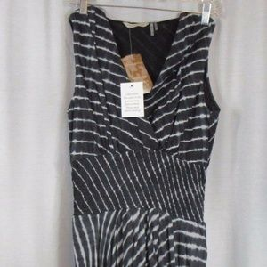 Soft Surroundings Gray White Devine Dione Dress XS